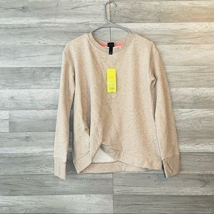 All In Motion Sweater Beige Crew Neck Pullover